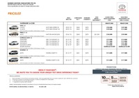 toyota Price List 4-22-2016 Page 1