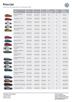 volkswagen Price List 9-25-2020 Page 1