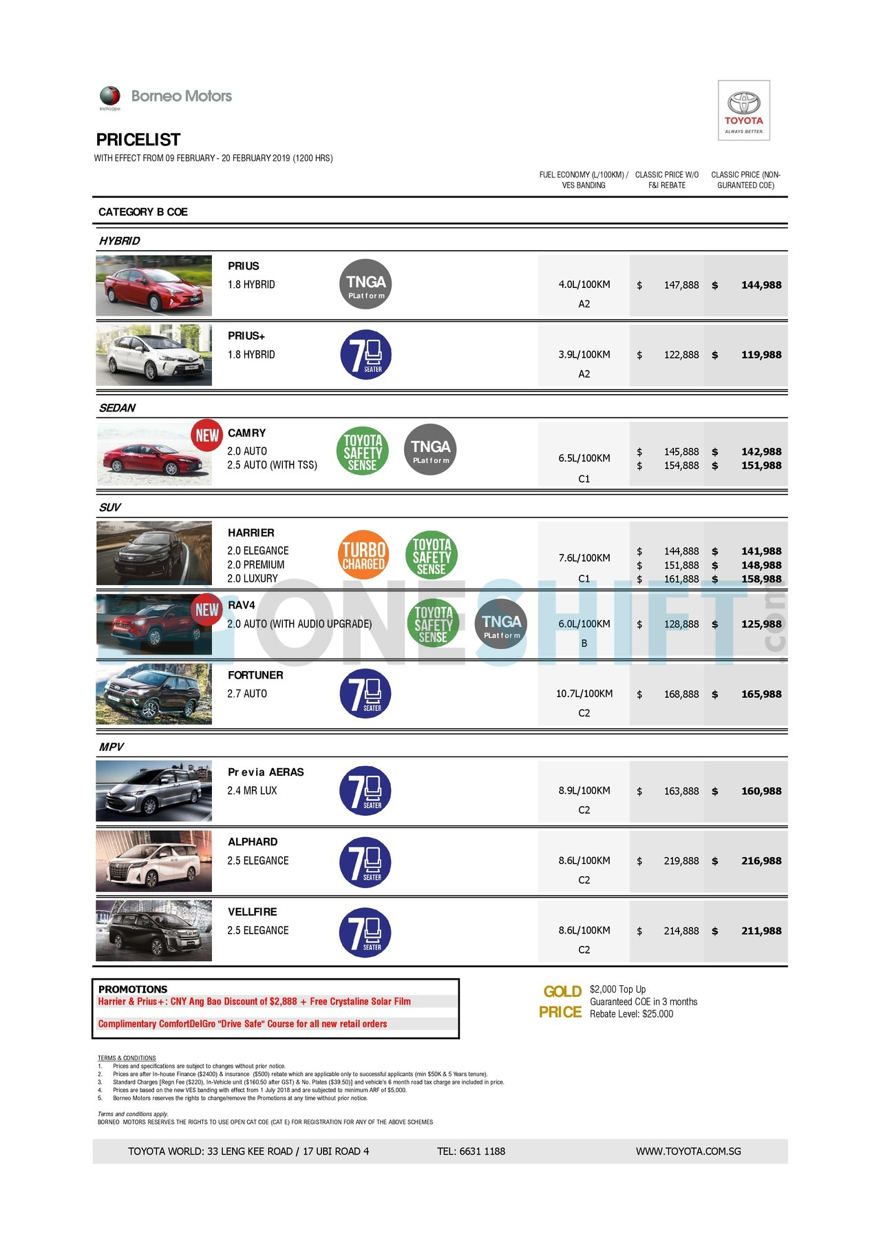 toyota Price List 2-11-2019 Page 2